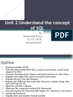 Unit 2 Understand the Concept of SQL