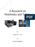 A Research on Notebooks and Tablets