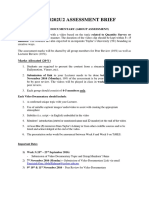 il module documentary video assignment brief