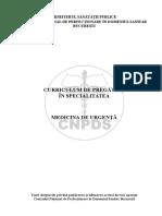 Curriculum Medicina de Urgenta