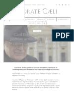 Card Burke_ Los Cardenales Podrían Actuar Con _Acta Formal de Corrección de Un Grave Error_ Si El Papa Persiste en Errores