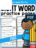 Sight Word Practice Pages Read and Write Free