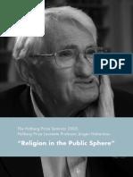Religion in the Public Sphere - The Holberg Prize Seminar 2005