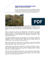 Philippines Deforestation Threats and Reforestation