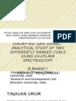 Studi Analitik Dari Dua Golongan Batu Bara UV VIS NIR