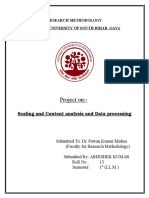Scaling and Content Analysis and Data Processing