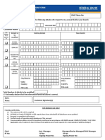 Contact Details Modification Form A