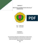 Simple Airway Management Pada Keadaan Emergensi, Zulkifli Salim (h1a212065)