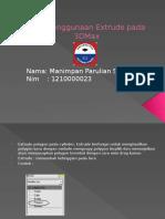Cara Penggunaan Extrude Pada 3DMax