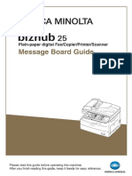 Bizhub 25 Message Board Guide