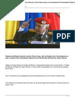 Jacinto Pérez Arcay en Exequias Del Comandante Chávez