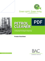 Petrol Cleaner Product Sheet