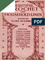 Beautiful Crochet on Household Linen (1916) - Klickmann Flora