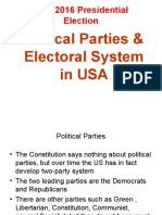 US Electoral System and 2016 Presidential Election