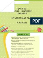 preparing for ells  vision and plan