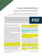 Einspieler_Journal of Psychology 2008 Prenatal Origin and Early Postnatal Development
