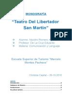 MONOGRAFÍA Teatro San Martin