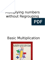 Lesson 8 Multiplying Numbers Without Regrouping