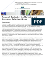 Research Context of the Marketing and Consumer Behaviour Group - WUR