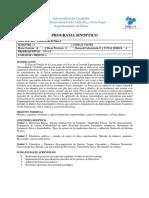 Programa de Laboratorio de Fisica I