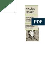 Nicolas Jenson- Informe