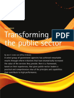 Transforming the Public Sector