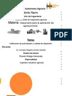 Reporte de Practica Aplicacion de Agroquimicos