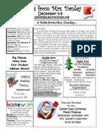 newsletter december 5-9