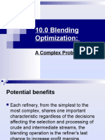 10.0 Blending Optimization