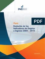 Perú_Evol_Indic-Empl e Ingresos x Dpto, 2004-2015_Jul 2016