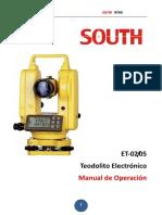 Manual de Operación Teodolito South ET-02-Español - ESTOPOSAC