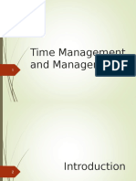 Time Management and Management