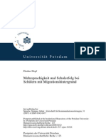 Mehrsprachigkeit und Schulerfolg bei Schülern mit Migrationshintergrund. Bilingualism and school achievement among children of migrant background