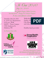 AKA Walk It Out Event Flyer