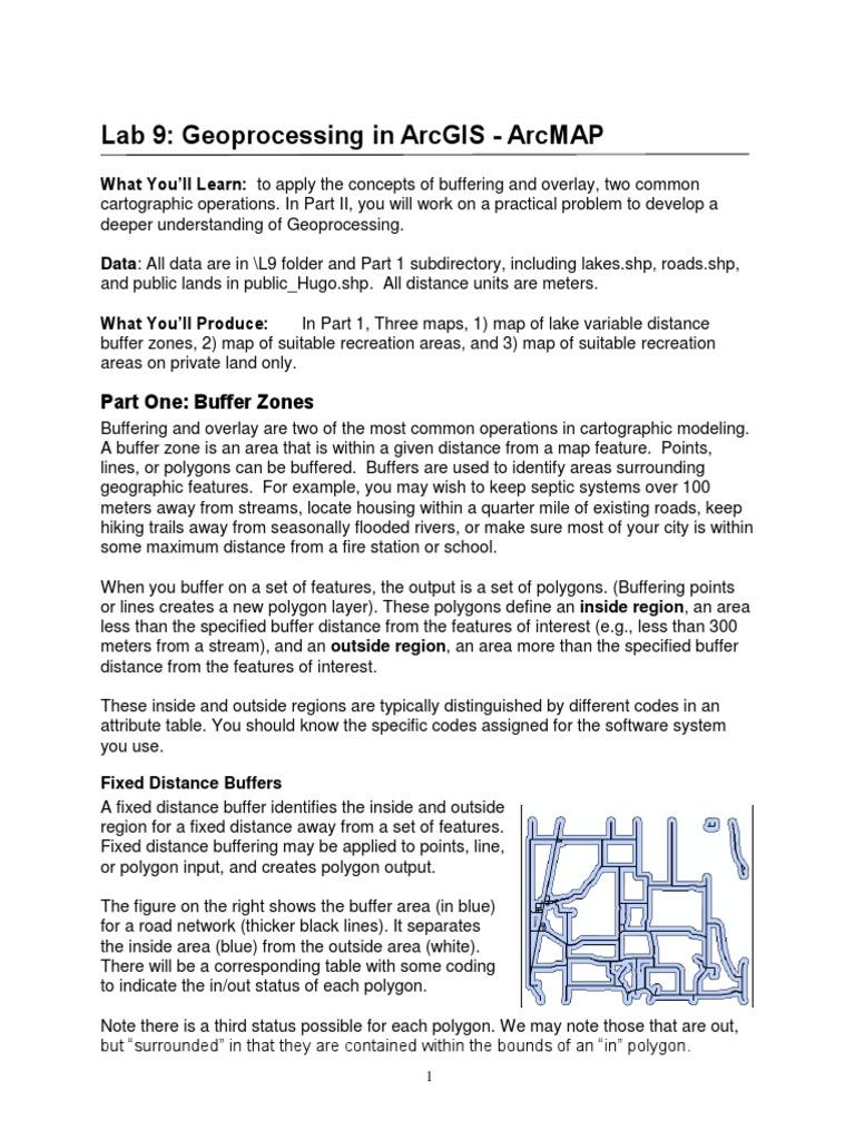 Lab 9 Geoprocessing | Data Buffer | Geographic Information