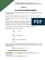 25-Silaba e Sua Classificacao