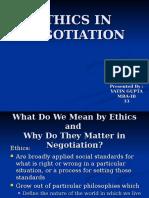 Ethics in Negotiation