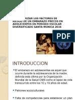 Factores Asociados Al Embarazo en Adolecentes
