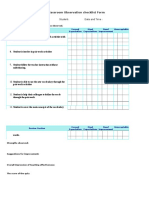 classroom observation checklist 1a