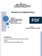 Advent of the National Hero Ppt