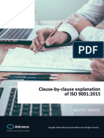 Clause by Clause Explanation of ISO 9001 2015 En