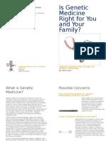 genetic medicine leaflet