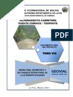Diseño Final Geometrico y Paquete Estructural (Pte. Coroico-Teoponte)