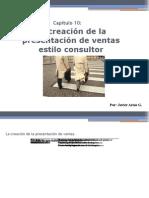 La creación de presentación de ventas estilo consultor