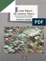 Ni Con Marx Ni Contra Marx -  Norberto Bobbio