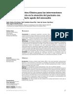 GPC Para Las Intervenciones en IAM Agudo