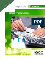 Plan Asignatura Costos y Presupuesto