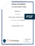 certificate of completion for bcps volunteer orientation  full course