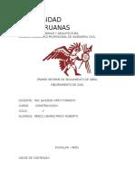 Informe Proceso Constructivo de Una via Pucallpa
