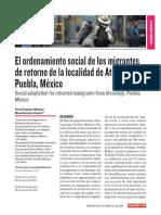 Ordenamiento Social de los migrantes retornados